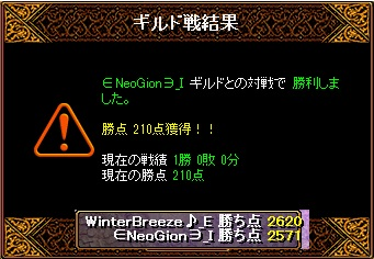 【WB】VS∈NeoGion∋_I様結果20150823