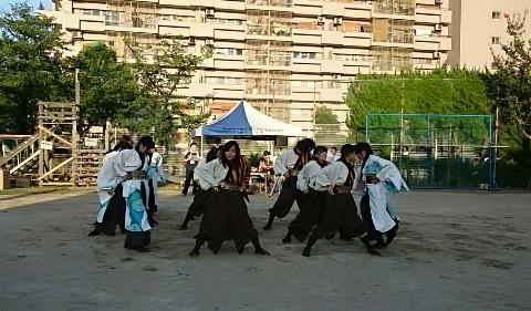 納涼祭・教育大学生の「よさこい祭り」