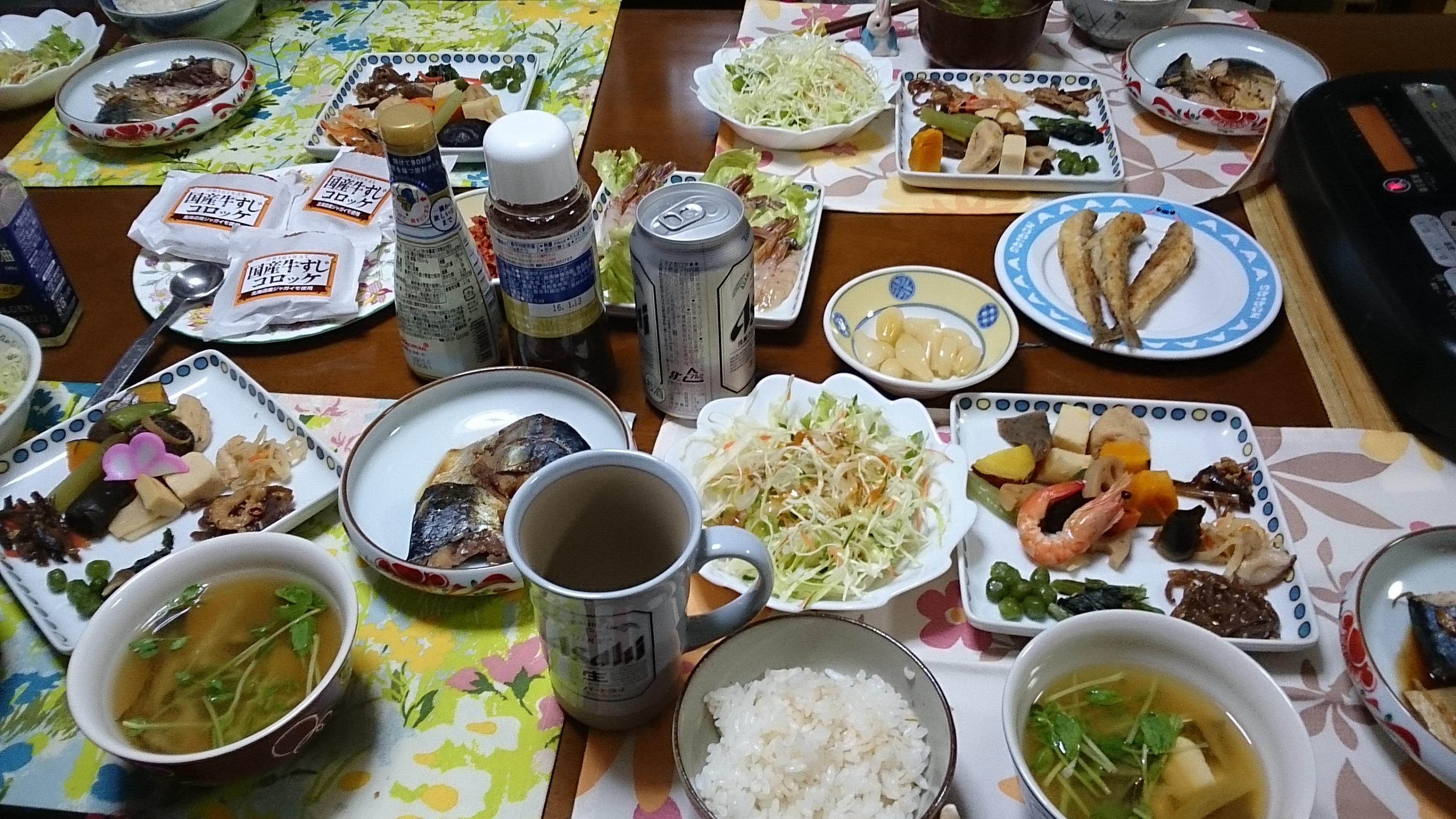 西川宅での夕食会