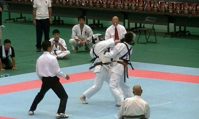 東日本大震災復興祈念全日本防具付空手道選手権大会男子組手決勝