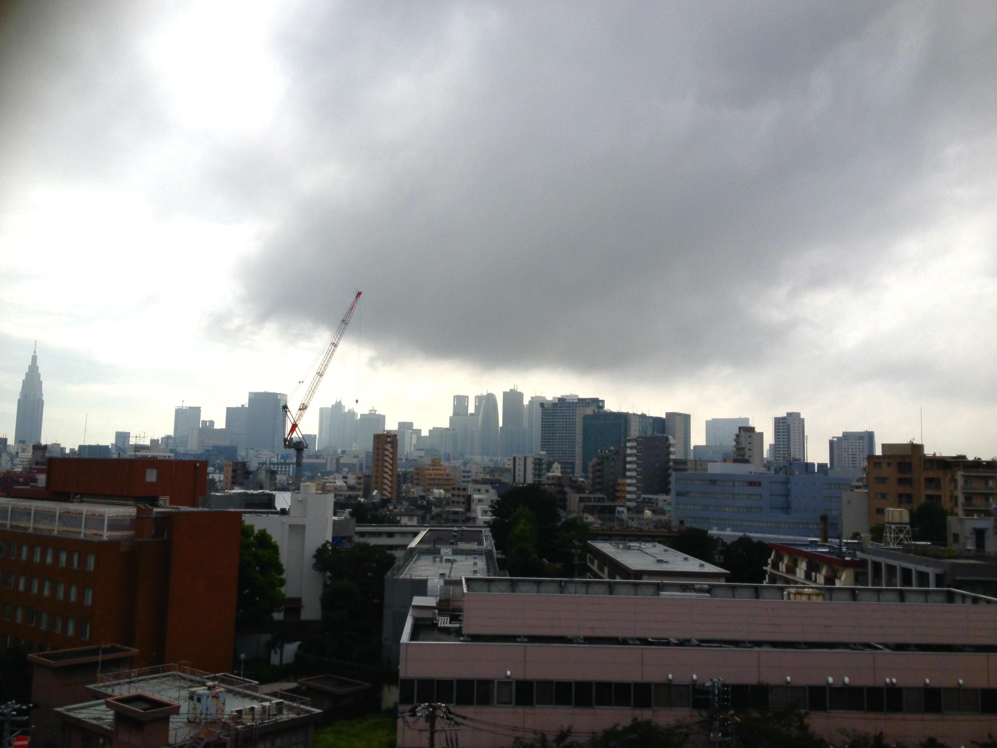 大病院屋上より西新宿を望む