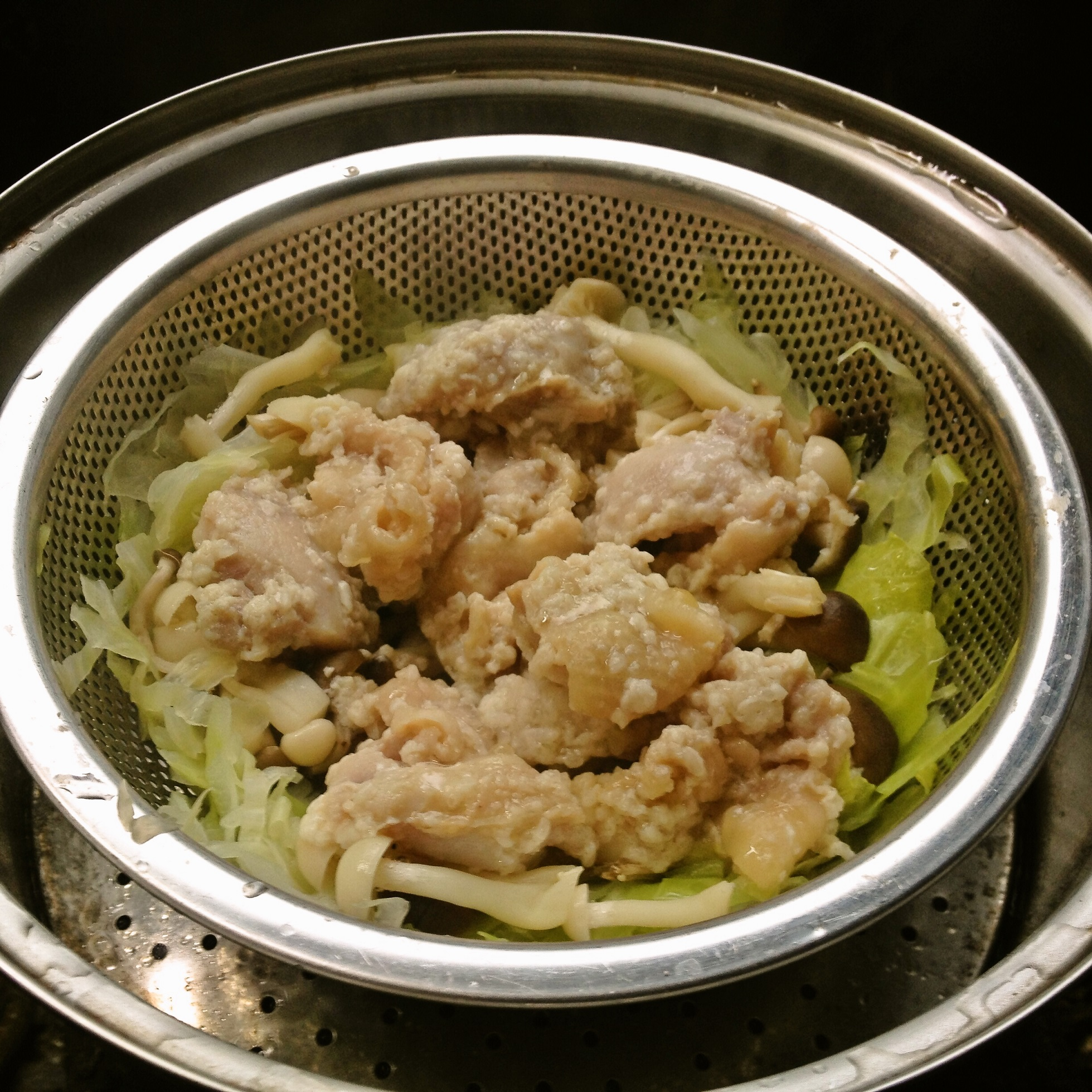 鶏肉塩麹漬蒸