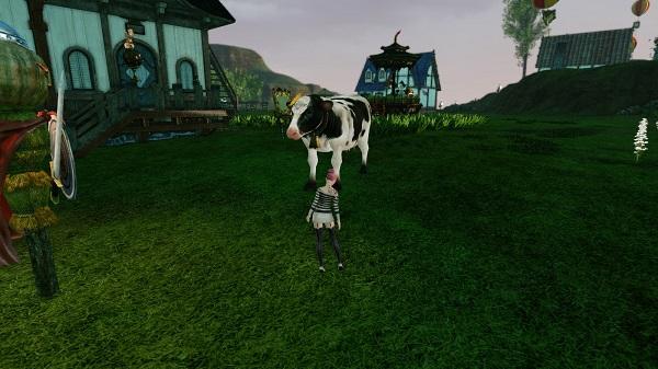 9月22日畑に牛