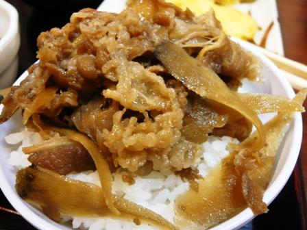 丸亀製麺:肉ぶっかけ・牛丼