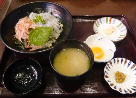 魚々楽:生しらす・生桜えびミックス丼