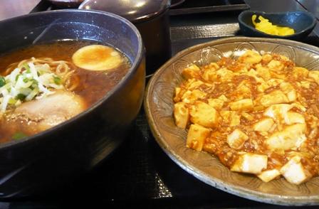 五味八珍:麻婆豆腐、味噌ラーメンセット
