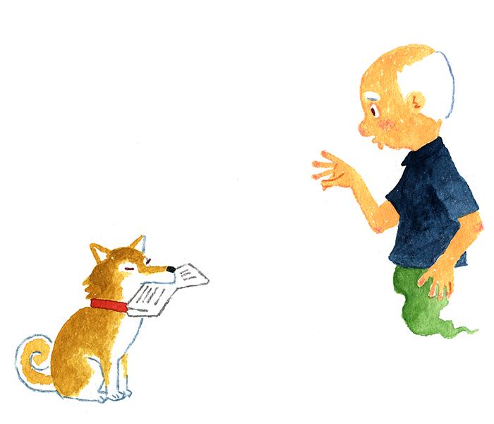 お盆の忠犬
