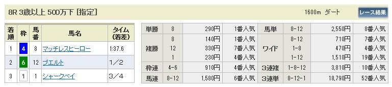 【払戻金】1011東京8(馬券 万馬券 的中)