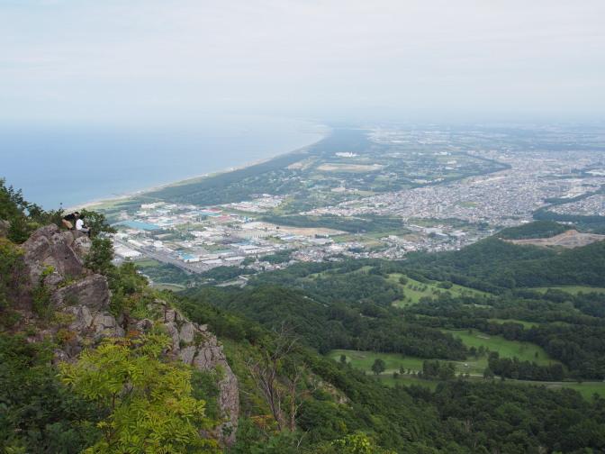 銭函天狗山から石狩湾を望む