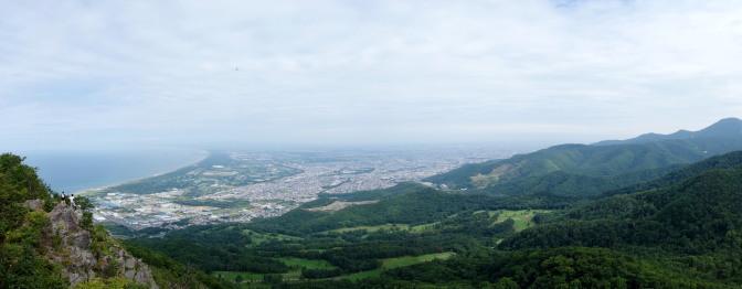 銭函天狗山から石狩湾を望む(パノラマ)