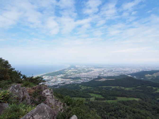 銭函天狗山から石狩湾を望む(山頂付近から)