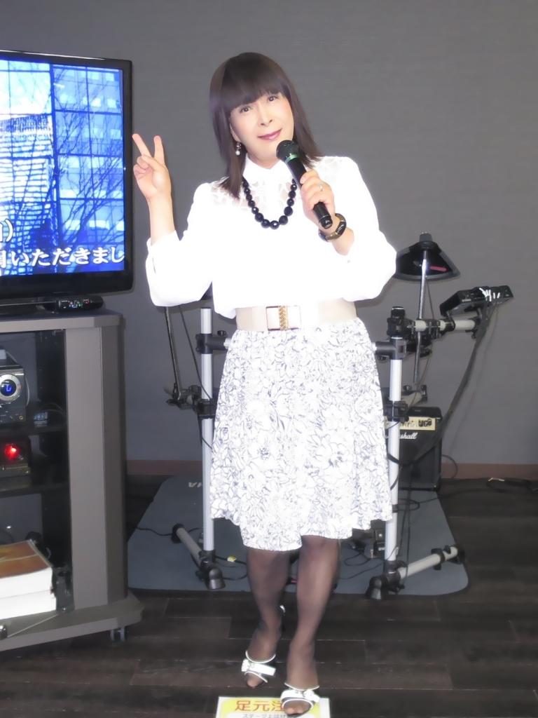 モノトーン花柄スカトカラオケ(3)