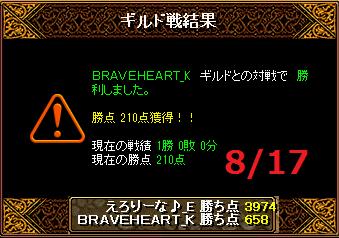 8月17日えろりなBRAVEHEART