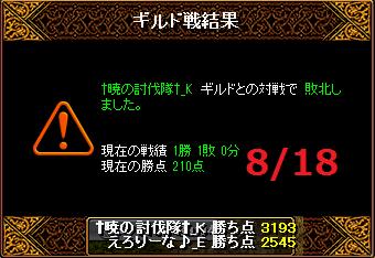 8月18日えろりなvs†暁の討伐隊†