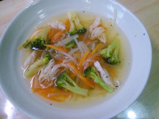 コンソメ塩レモン野菜スープ
