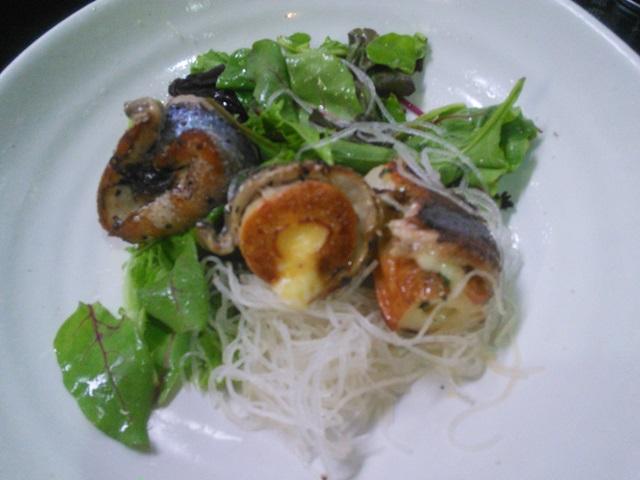 さんまの竹輪チーズ紫蘇巻焼