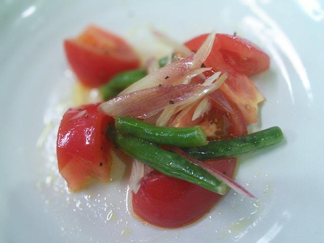 トマトのいんげんのサラダ