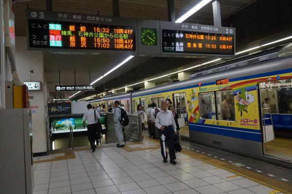 2015-08-26 池袋駅(ホーム) 発車標