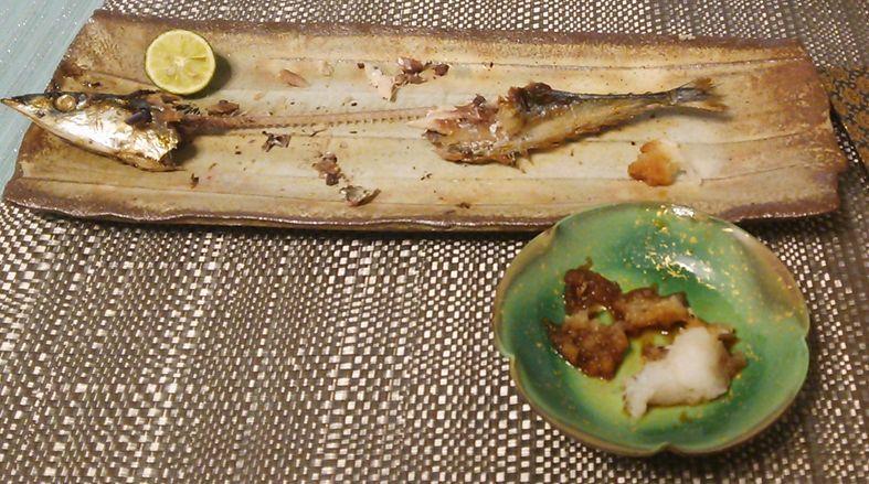 20150831秋刀魚の塩焼き