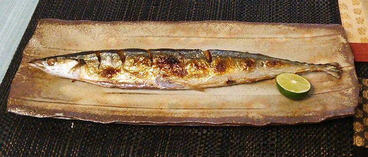 20150912秋刀魚の塩焼き