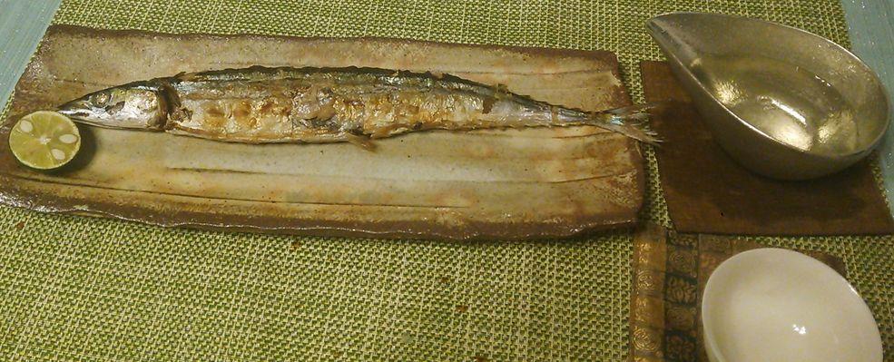 20150917秋刀魚の塩焼き