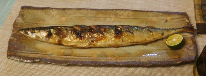 20151008秋刀魚の塩焼き
