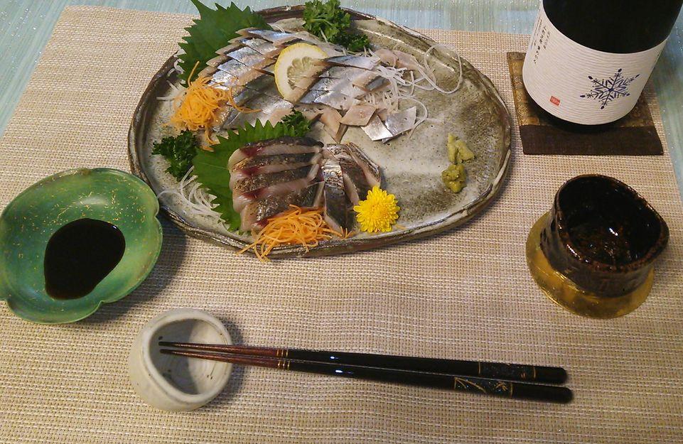 20151008秋刀魚キズシサワラ炙り