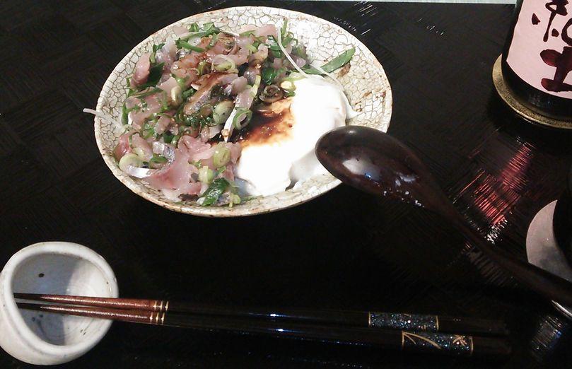 20151013アジのたたき豆腐