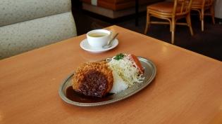 不二家レストラン、昭和の洋食ビクトリアハンバーグプレート5