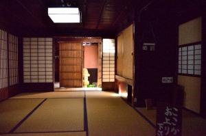 1階の座敷と隠し戸棚