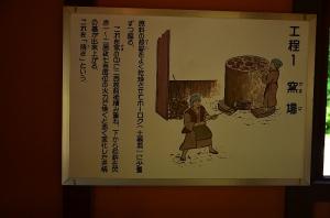 釜場室の説明板