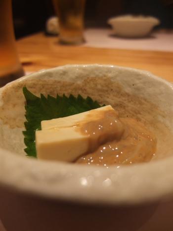 豆腐と塩辛
