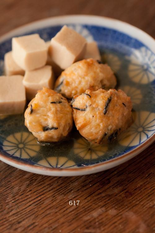 つくねと高野豆腐の煮物