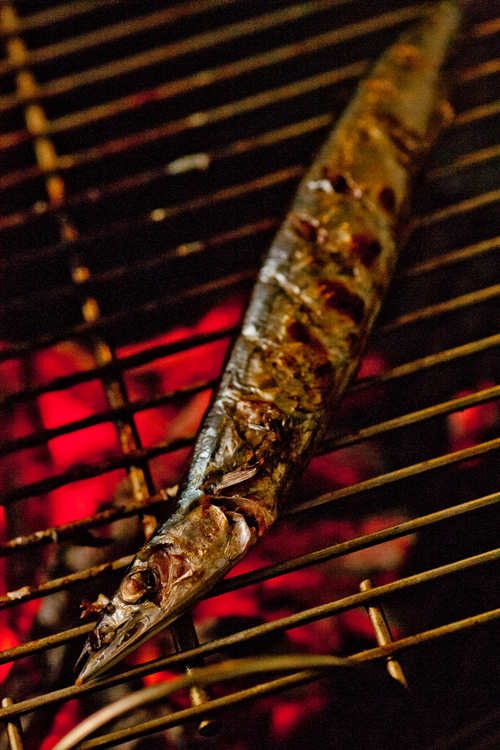 秋刀魚の炭焼き2