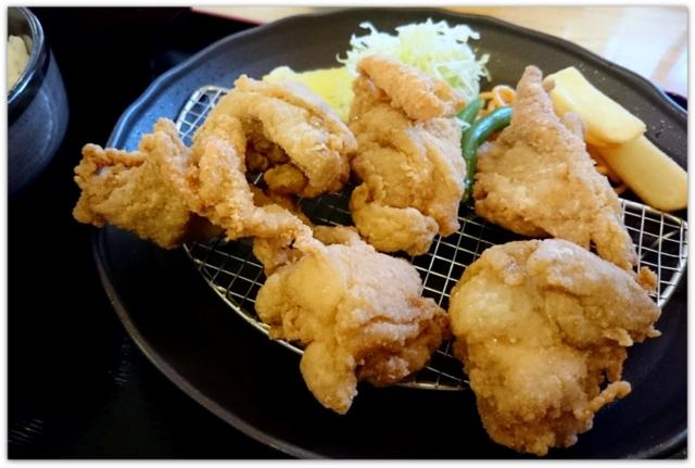 ふじや からあげ 弘前店 定食 レモン塩 にんにく ランチ グルメ