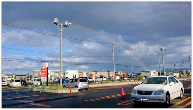 青森市の天気 虹