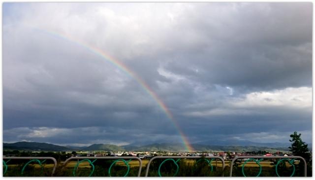 弘前市の天気 虹