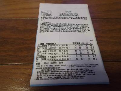 8.21結球高菜種