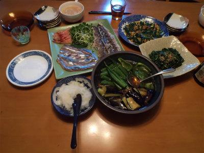 9.5夕食