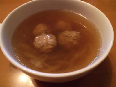 9.13豚ミンチの団子と牛蒡のスープ