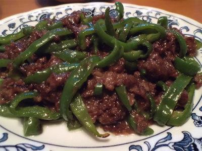 9.19牛肉とピーマン炒め