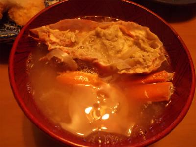 10.10蟹の味噌汁