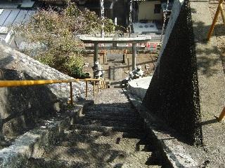 八坂神社階段上から_H22.10.16撮影