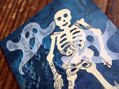 ハロウィンATC 「Skeleton」