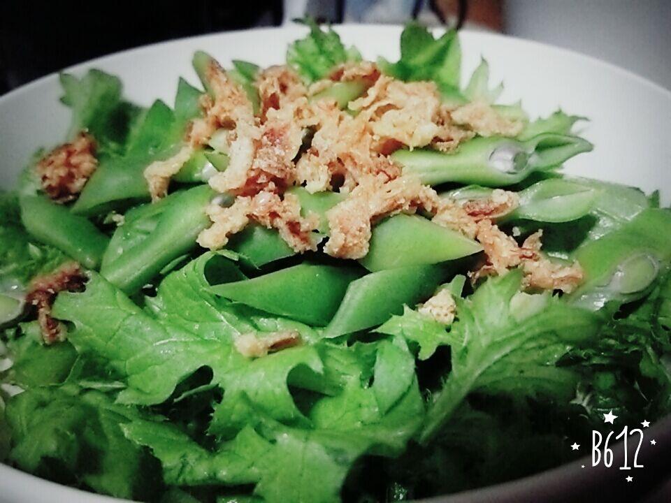 サラダ菜とささぎ豆サラダ