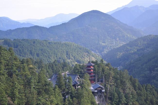 ロープウェイからの久遠寺