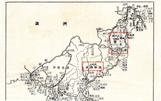 北鮮地図_咸鏡南北道