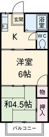 ■物件番号4193 ペット可!2Kで1人暮らし!2階南向き!格安5.5万円!敷地P有り!礼金ゼロ!海側エリア!