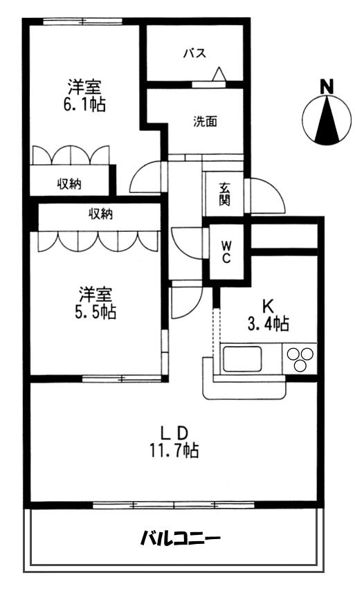 ■物件番号4912 海3分の2LDKマンション入荷!朝イチサーフィン!平成23年築でキレイ!10.5万円!