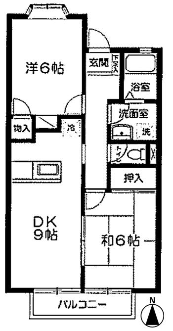■物件番号4460 海4分!パークでサーフィン!2DK!2階!対面キッチン!都市ガス!格安6.4万円!